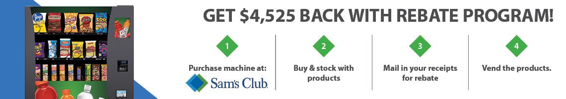 Get $4,525 back with rebate program!